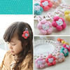 2015 New children hairpin hot sale cotton ball lovely kitty cat hair rope accessories hair clips for girls wholesale ABB1001