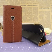 Magic flip leather case cover for iphone 6 leather back cover for apple 4.7 5.5 inch 6 air wallet phone case wholesale