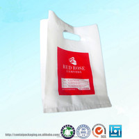 Environmental friendly die cut handle ldpe and hdpe plastic shopping bag garment poly bag
