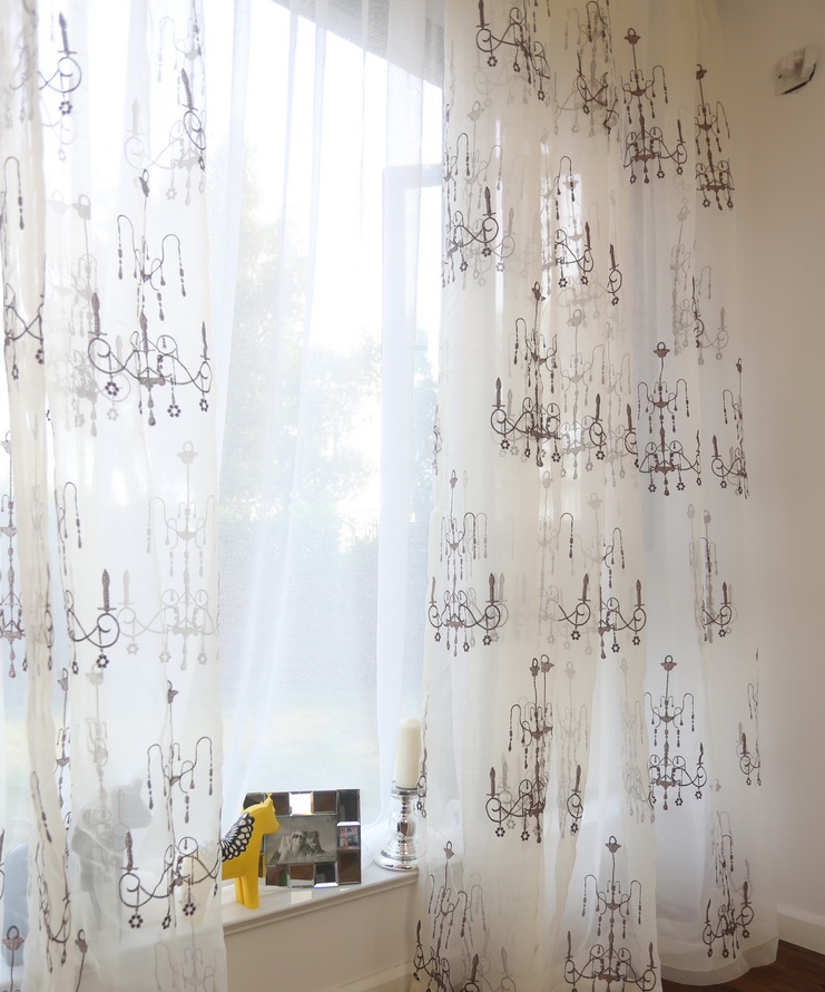 ready made pretty elegant jacquard wholesale faux suede curtain
