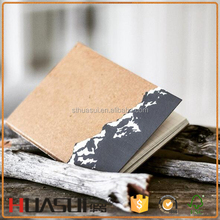 High quality custom A4 A5 A6 kraft paper cover diary notebook agenda