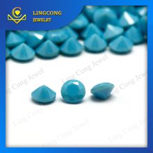 wholesale price synthetic faceted cut turquoise