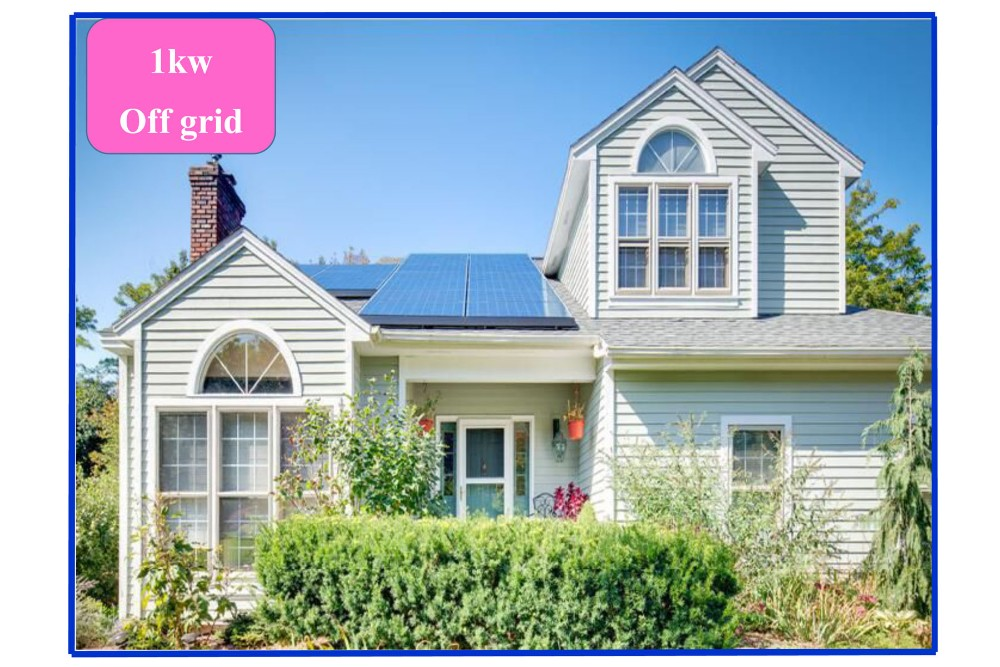 1kw solar panel system including on grid solar inverters and other energy equipment