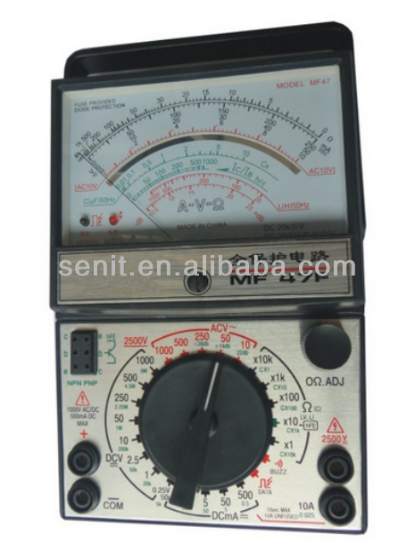 High Accuracy portable Electrical Analog Multimeter MF47F