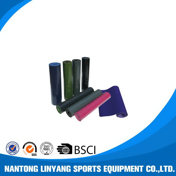 Customized promotional new coming manufacture tpe yoga mat