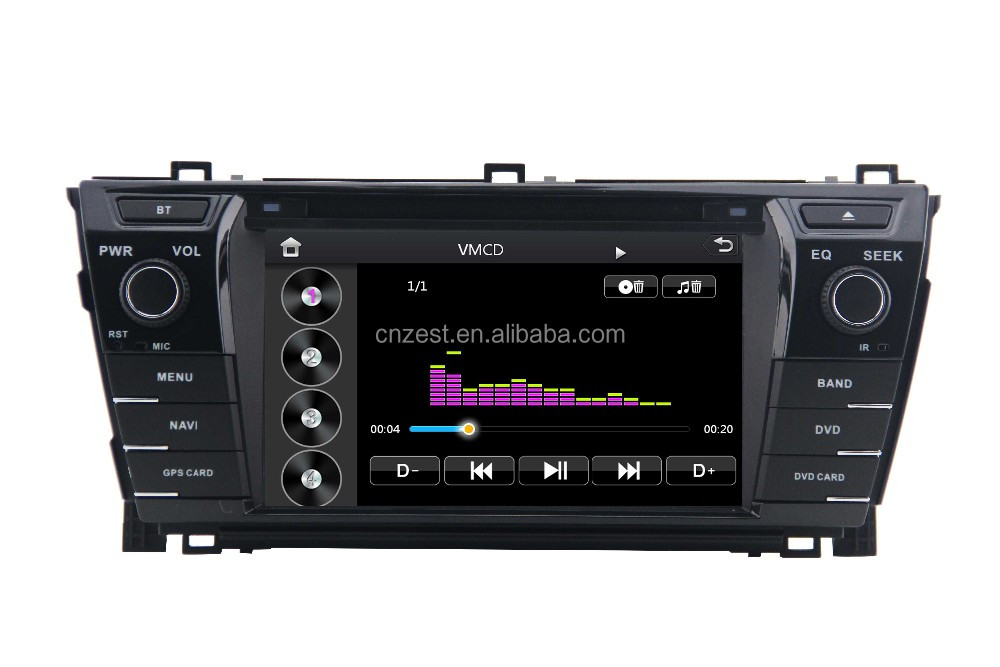 Digital HD screen car media player for Toyota corolla altis 2014 car dvd radio gps Auto DVD multimedia video interface