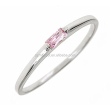 fashion various color one stone design zircon rings
