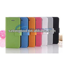 2013 Top design hotselling credit card slot wallet leather case cover for iphone 5