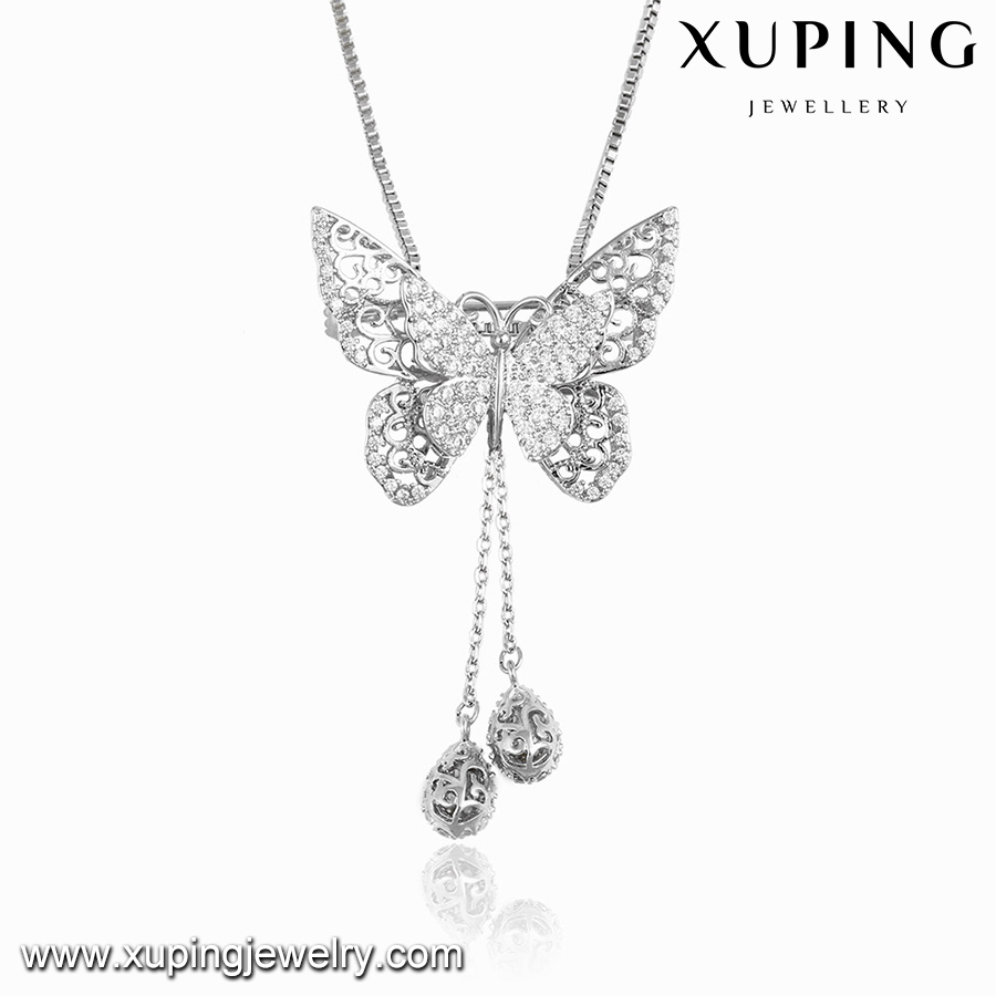 00101 XUPING fashion jewelry 2016 necklace,animal butterfly necklace