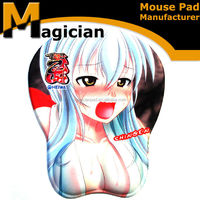 hot gel mouse pad with sex cartoon girl boobs