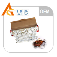 household food grade aluminium foil sheet with holes in color box