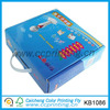 Blue 300 gsm suitcase paper box packaging with lid for toys