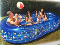 upground PVC swimming pool at different size