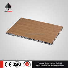 Fireproof Wood Grain Aluminum Honeycomb Panel For Decoration