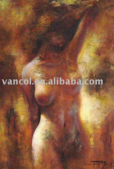 Hot selling artistic framed nude women oil painting on canvas art