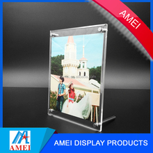 2017 Custom acrylic fashion magnetic photo frame with supports