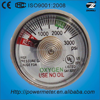 CE certificate stainless steel case back connection Fire Extinguisher pressure gauge