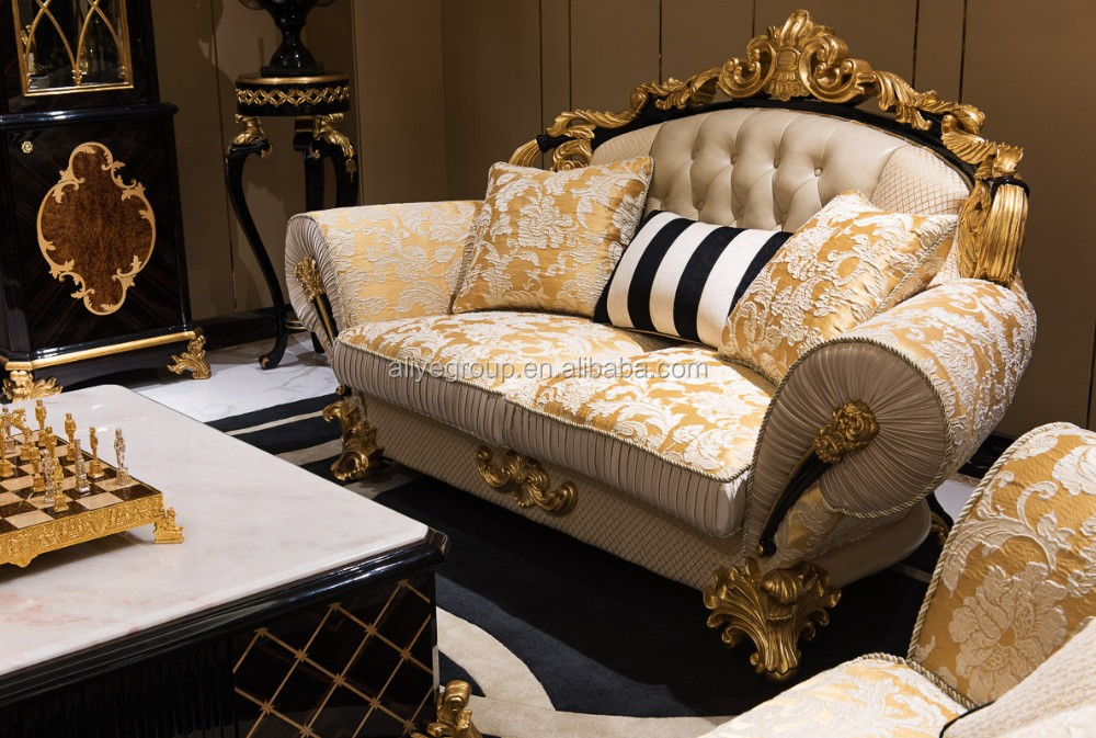 Living room wooden sofa set and luxury exclusive