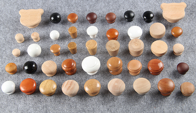 Various size and shape wood round knobs door knobs furniture knobs