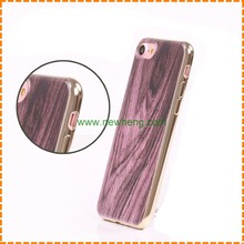 New products Wood grain Plating Rubber Silicone Soft TPU phone case for Iphone 7 plus