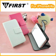 Hot selling PU leather case for iphone4/4s