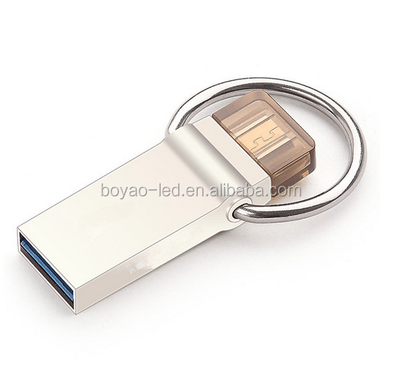 16GB 32GB 64GB USB Flash Drive USB 3.0 OTG Smartphone Pen Drive Micro Portable Storage Memory Metal USB flash drive