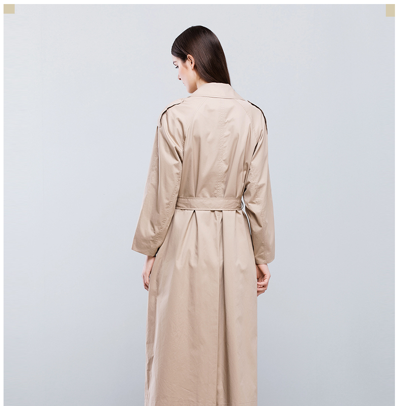 European long dust coat suit women fashion 2017 Autumn winter Guangzhou OEM Factory