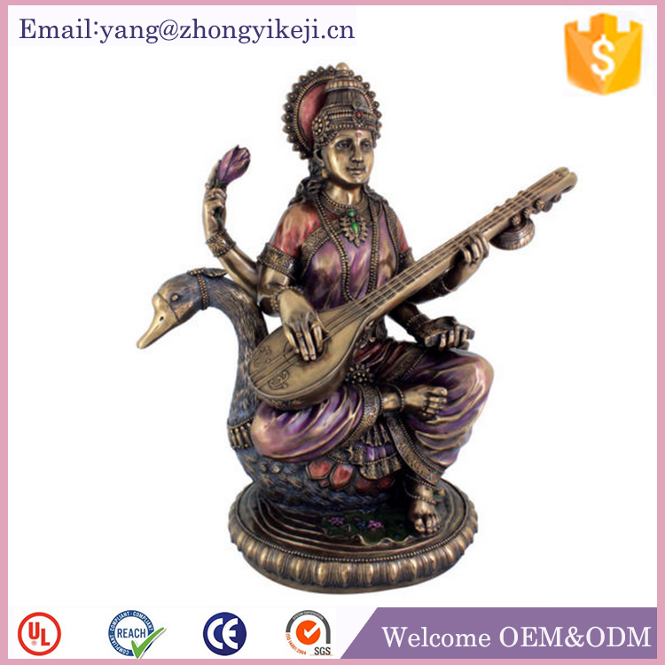 Religious craft polyresin saraswati sculpture