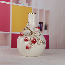 wedding decor ceramic strawberry decoration flower vase for sale