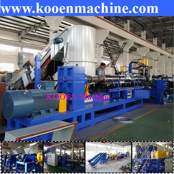 Hot selling waste scrap PE film bags pellets making machine extrusion machine line