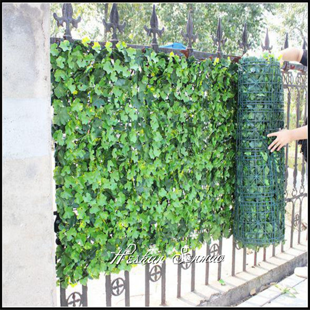 Outdoor artificial garden fence plastic ivy privacy