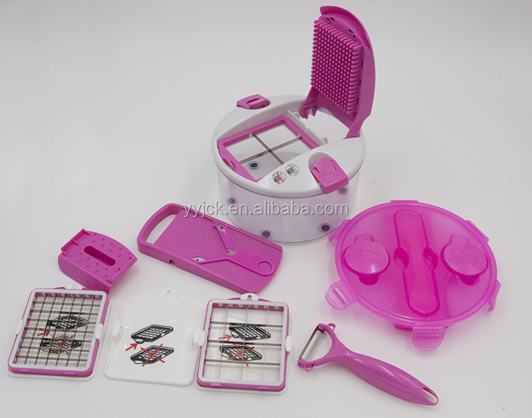 High Quality Hand multifunctional Salad Chef Roto vegetable and Fruit Slicer Champ Cutter As Seen On Tv