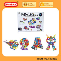 Children educational toys plastic connecting magnetic building blocks in 78pcs