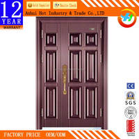 New Design Double Leaf Door High Quality Home Door Security Door,High Quality metal security screen