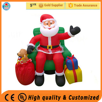 2016 Newest inflatable christmas Santa Claus for festival decoration / customized merry christmas Ornaments for sale