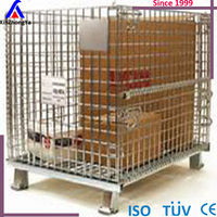 Top quality strong wire mesh container wire storage cage for sale