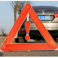 Safety reflective triangle for car warning in emergency tool kit