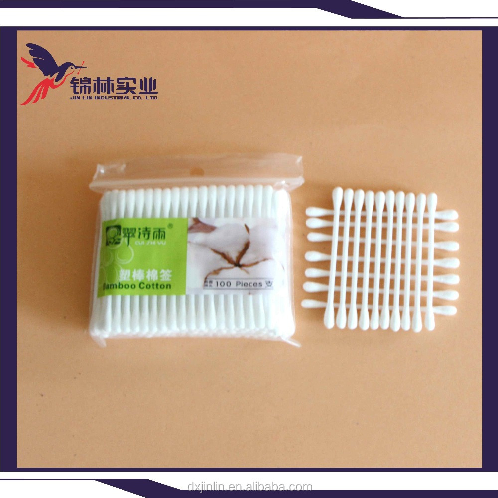 Good quality low price daily needs plastic stick q tip cleaning