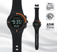 2016 hot-sale sport watch Islamic azan watch Makkah watch HA-6505