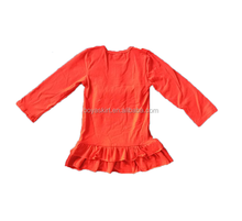 Wholesale Baby Summer Solid Color Boutique Cotton Party Dress One Piece Children Girl Dress