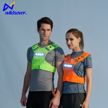 Cooling Mesh Hi vis LED flashing reflective vest for running cycling