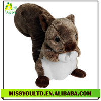 Handmade Soft Stuffed Plush Animal Doll Squirrel