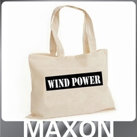 2015 MAXON Promotional Logo Printed reuseable large canvas grow bag/canvas mock up shopping bag/canvas tote bag with outside poc