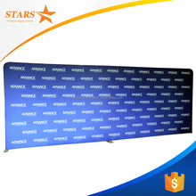 Customized Size Tension Fabric Display , Portable Backdrop Stands