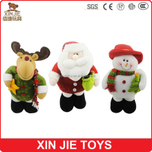 custom christmas gift toy mini soft santa claus 10cm stuffed santa claus keychain