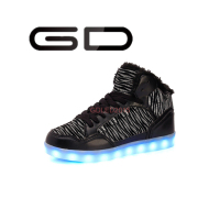 global popular unisex winter warm men led shoes with large size