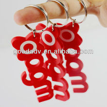 New style Advertising Specialty Number key chain with letters