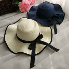 Cheap wholesale elegant design promotional boater straw beach women hat