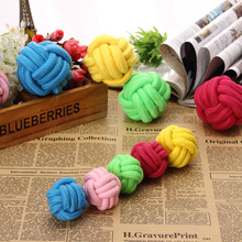 Colorful Cotton rope ball to molar pet teeth