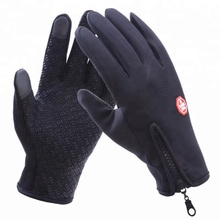 Two Finger Windproof Hand Protection Touchscreen Smartphone Silicone Anti Slip Touch Screen Gloves